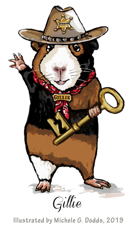 Gillie Guinea Pig Illustration