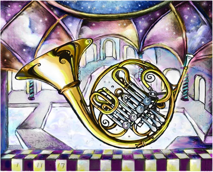 French Horn Color Image