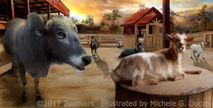 Cow and Goat Image