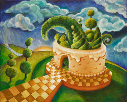 Topiary Party Painting