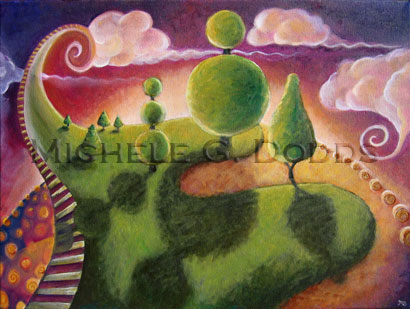 Whirly World Painting