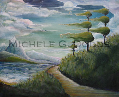 Windy Way Grey Painting