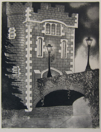 Castle Etching